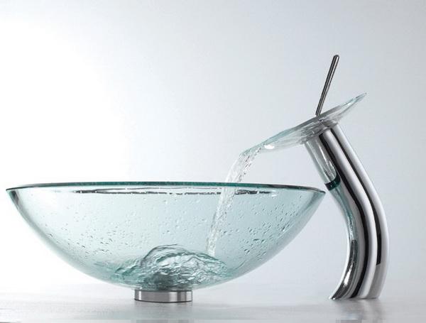 Стеклянные раковины прозрачные