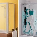 Стеклянные шторки в ванную