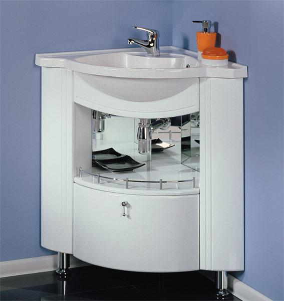 Угловые раковины для ванной - модный интерьер