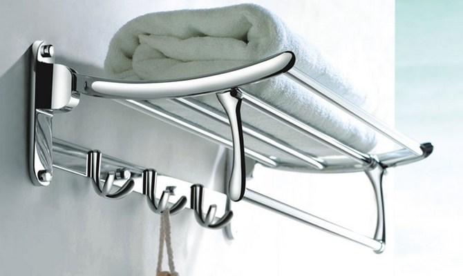 Варианты создания полок для полотенец в ванной комнате