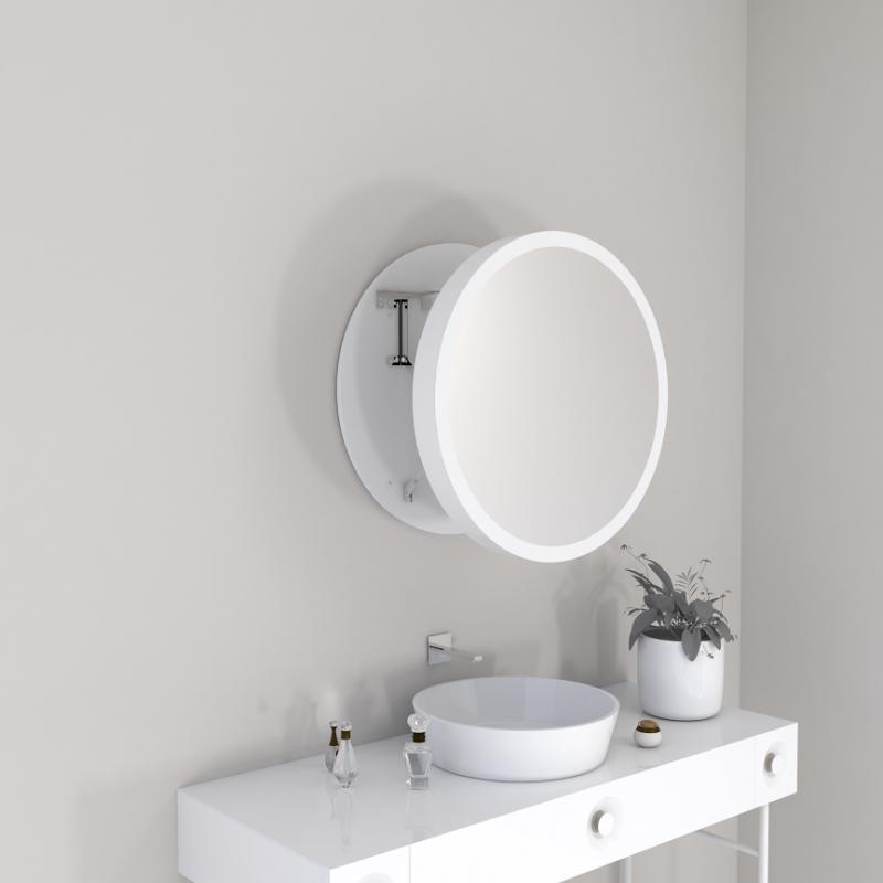 Выдвижное зеркало для ванной комнаты