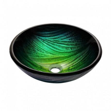 Зеленая раковина на основе стекла