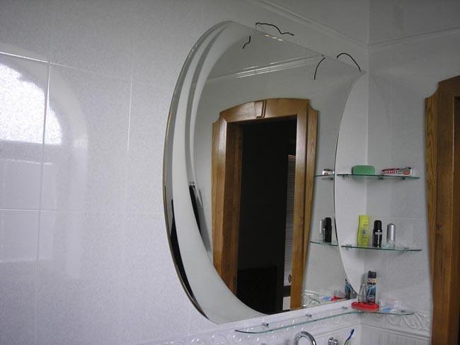 Зеркало в ванную под профиль