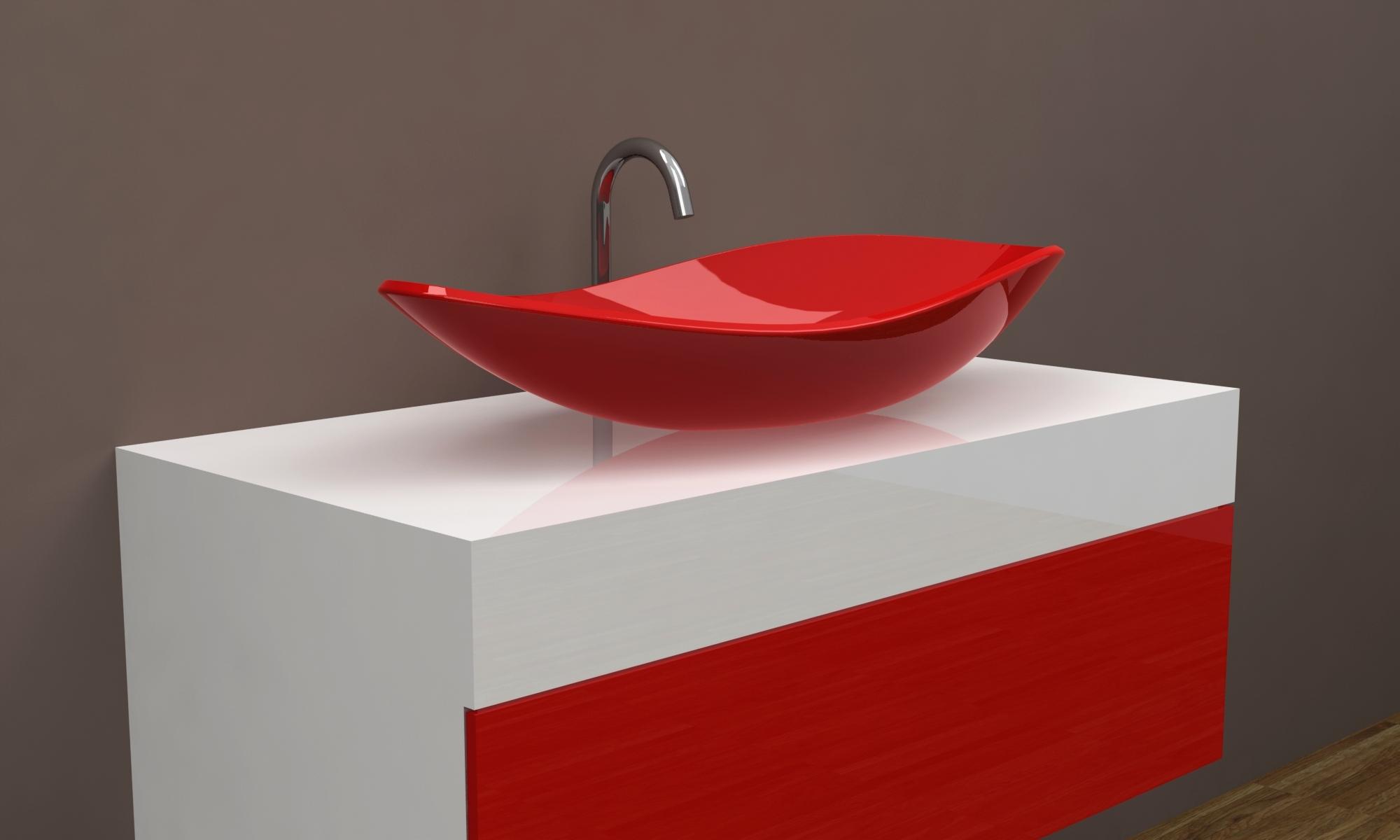 Дизайнерские тумбы в ванную
