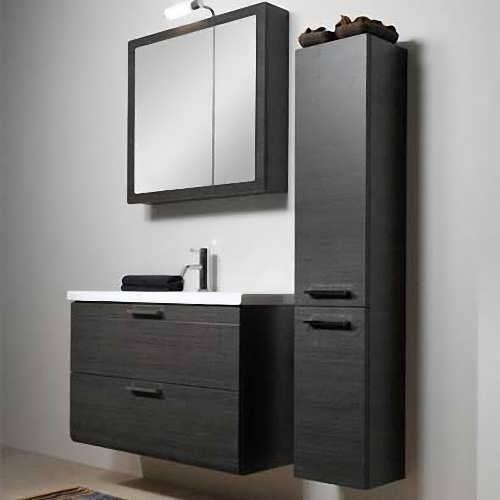 использование навесных шкафов в ванной