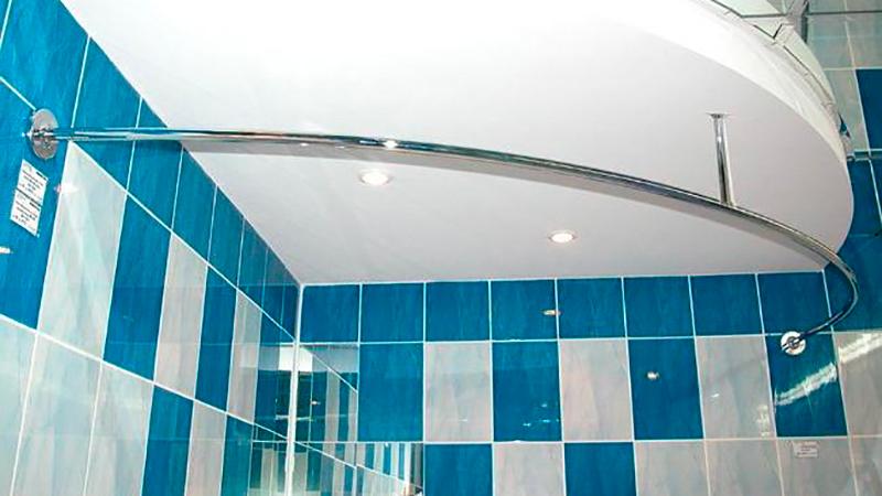 Штанга в ванную полукруглая