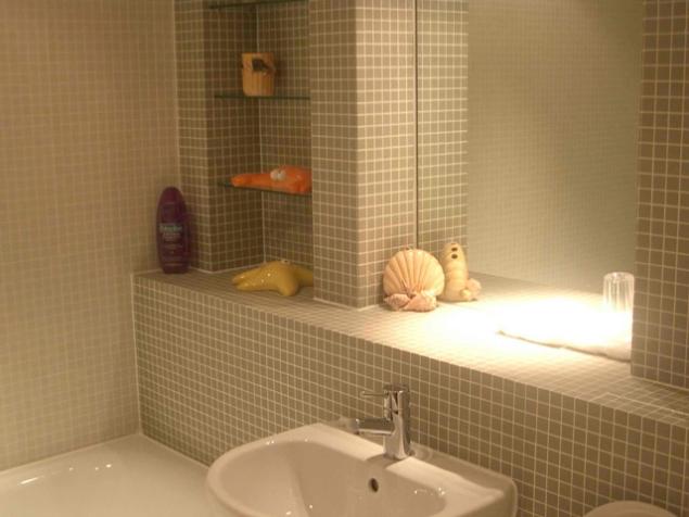 Альтернативная отделка стен в ванной комнате