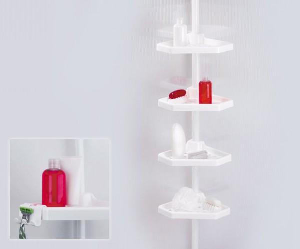 Белая пластиковая полка