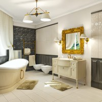 Мебель в ванную комнату в классическом стиле