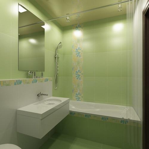 Отделка стен плиткой в ванной
