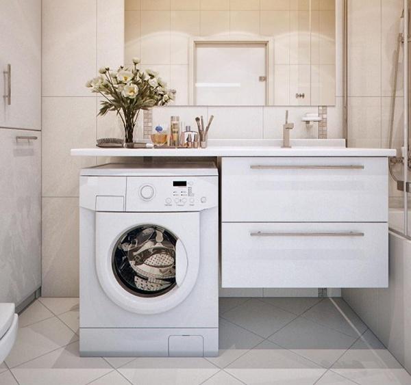 Подвесная тумба для стиральной машины