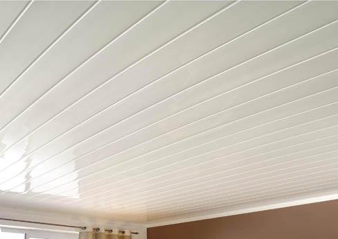Реечный потолок в ванной без стыков