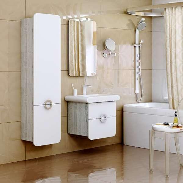 Шкаф - пенал для ванной комнаты навесной