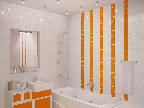 Сочетание белого и оранжевого тона дизайна