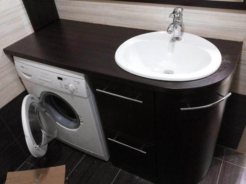 Тумба под врезную раковину для ванной