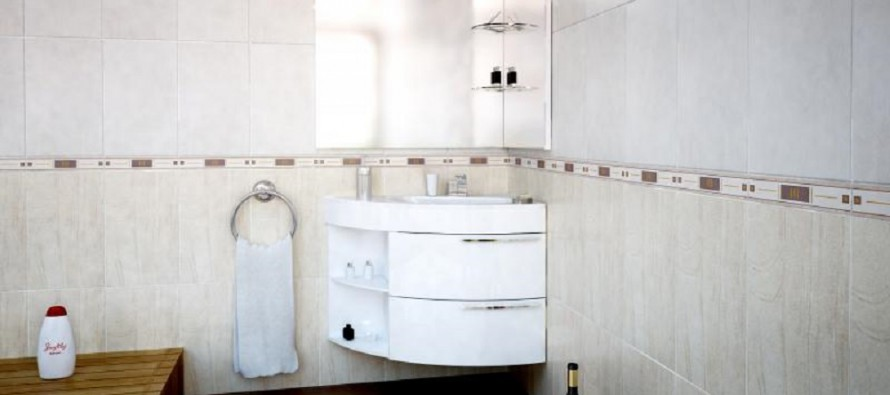 Угловая тумба для ванной комнаты в доме