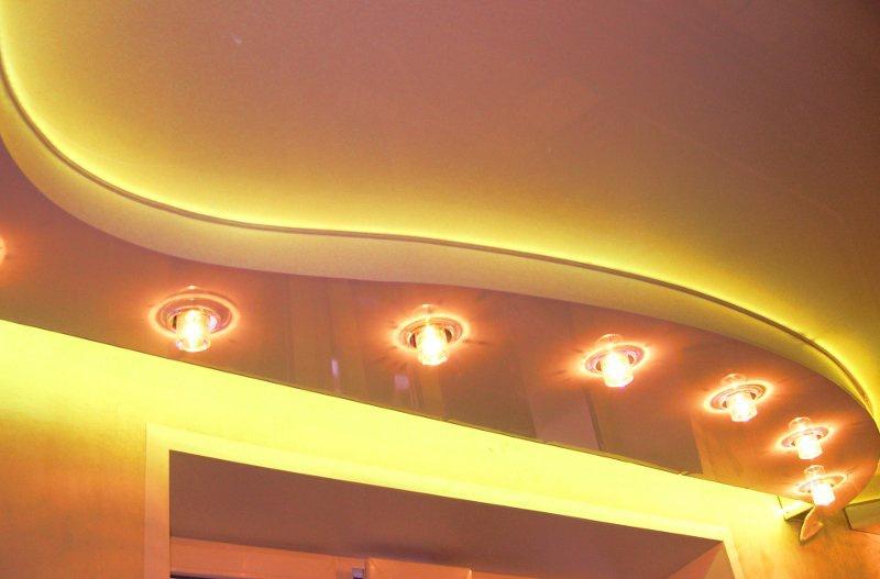 Яркие покрытия потолка для дома