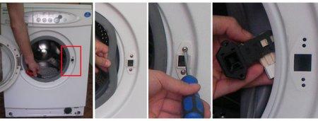 Замена блокиратора дверцы стиральной машинки