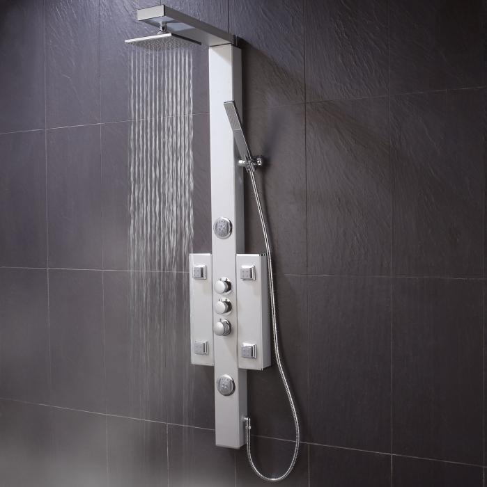 Душевая панель с тропическим душем и смесителем, какие бывают виды