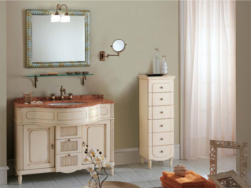 Классическая белая мебель для ванны