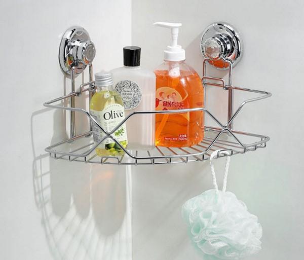 Металлическая полка для интерьера ванной