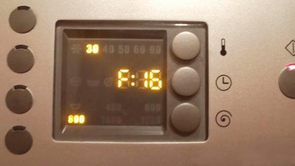 Ошибки стиральной машинки