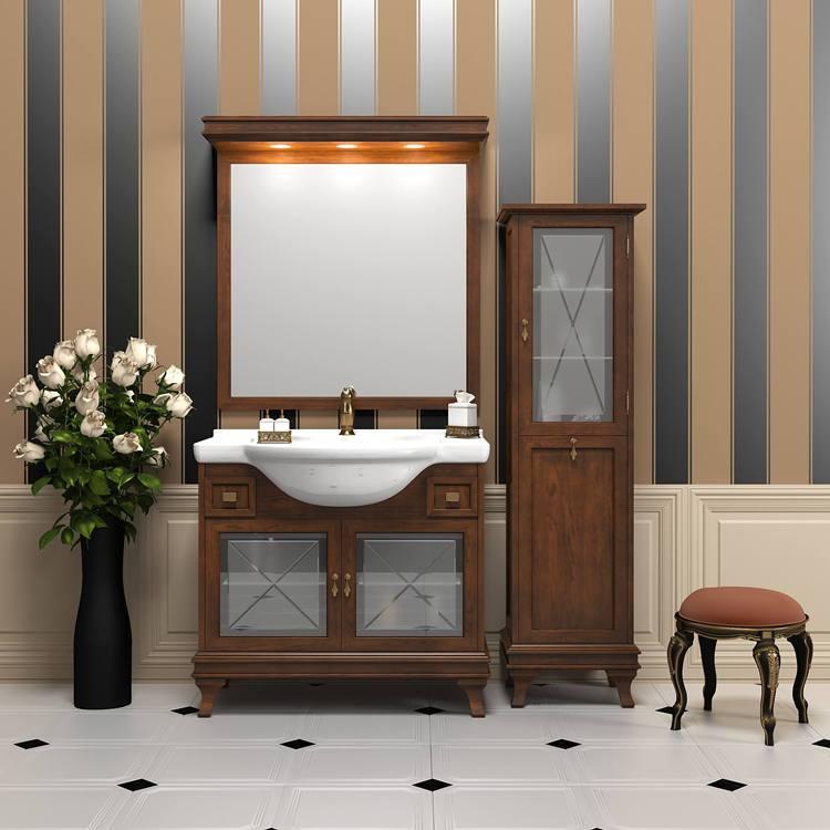 Особый вид ванной с классической мебелью