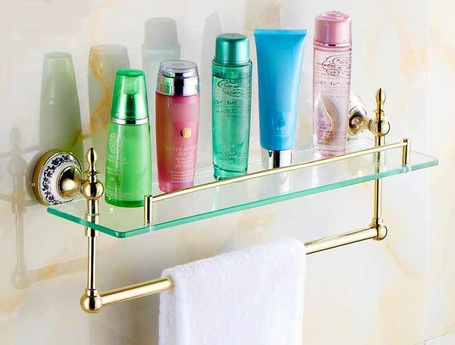 Открытая полка в ванных