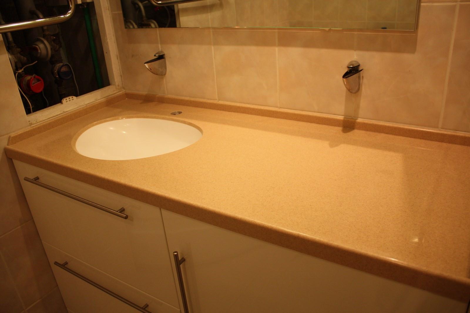 тумба под раковину для ванной комнаты со столешницой из камня