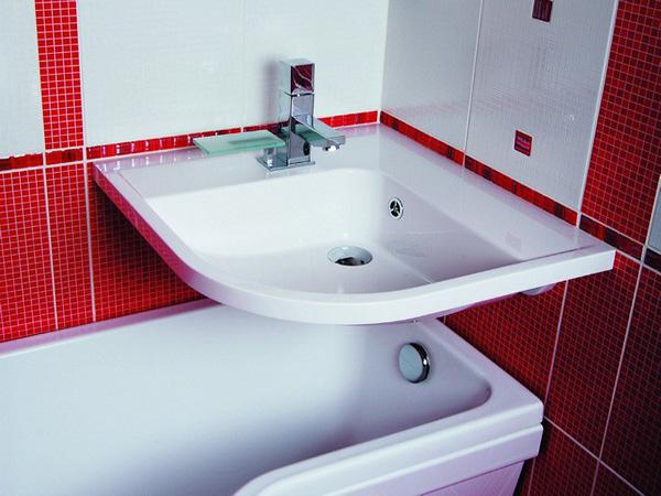 Угловой умывальник для ванной