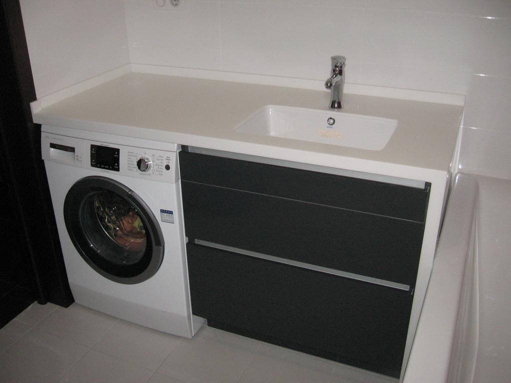 Встроить стиральную машину под столешницу