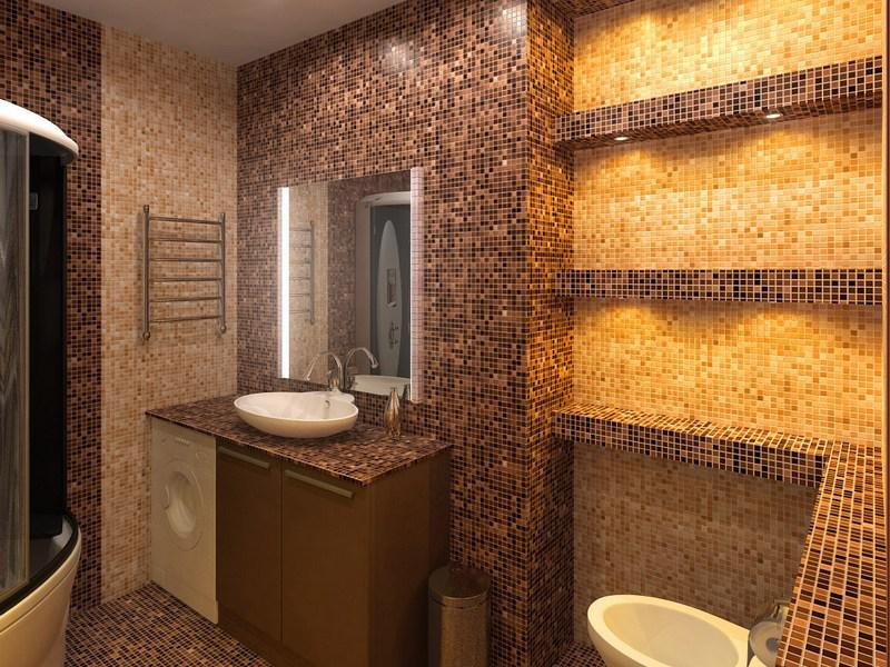 Плитка мозаика в ванной