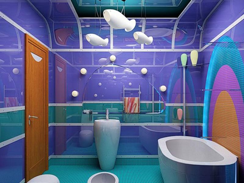 Стеклянные панели в дизайне ванной комнаты