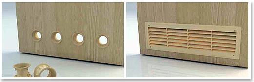 Дверь с вентиляцией для ванной