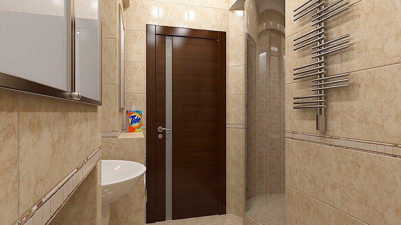 Ламинированные двери в ванную и туалет