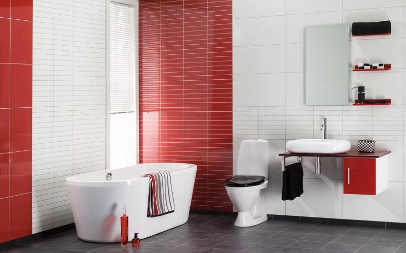 Красный цвет в дизайне комнаты