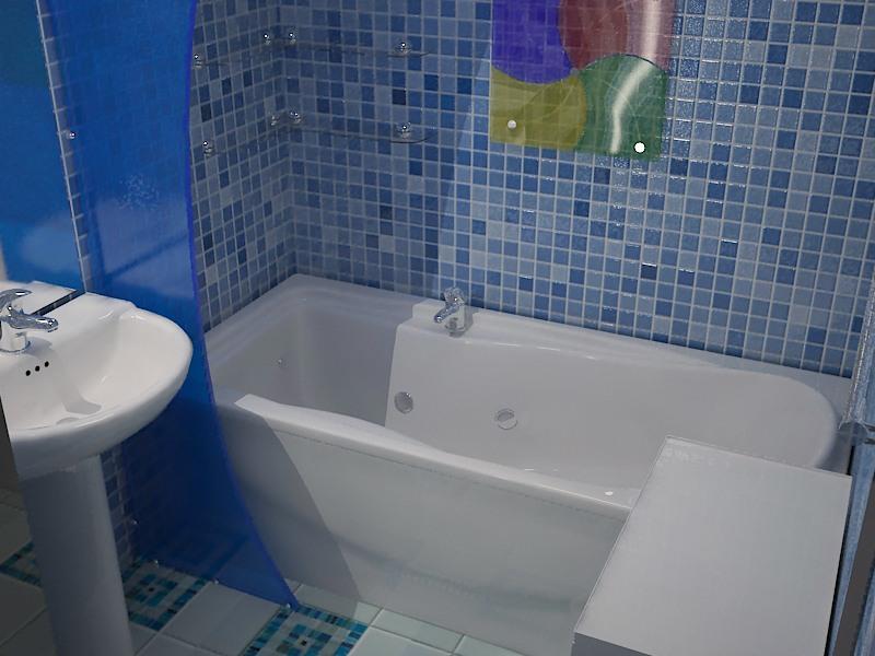 Стеновые панели для маленькой ванной комнаты в виде мозаики