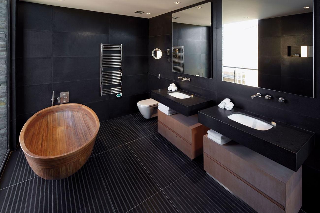 Черный цвет в ванной