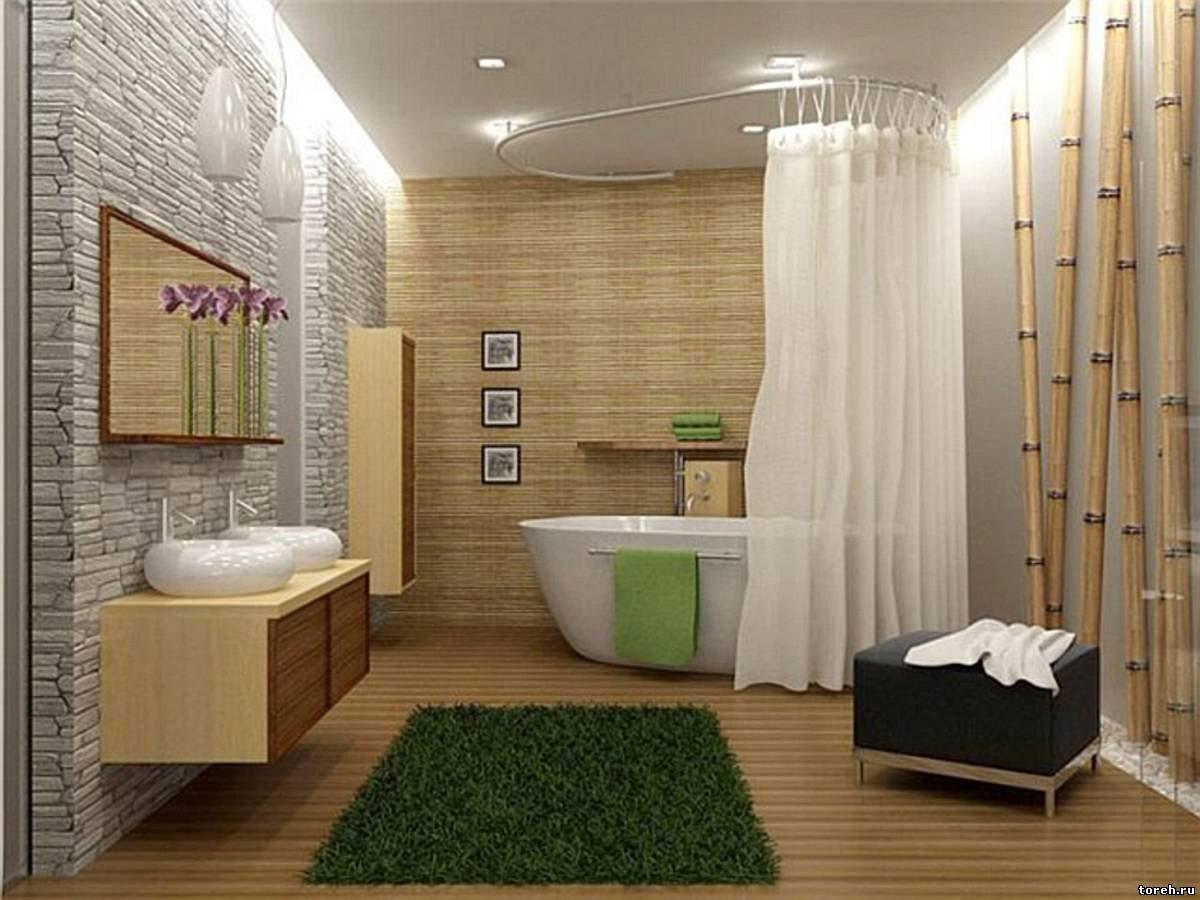 Декоративное оформление ванной комнаты
