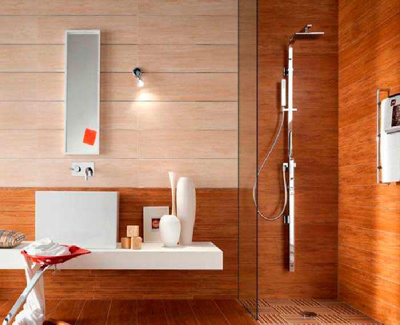 Дерево придает ванной комнате неповторимый уют и оригинальность