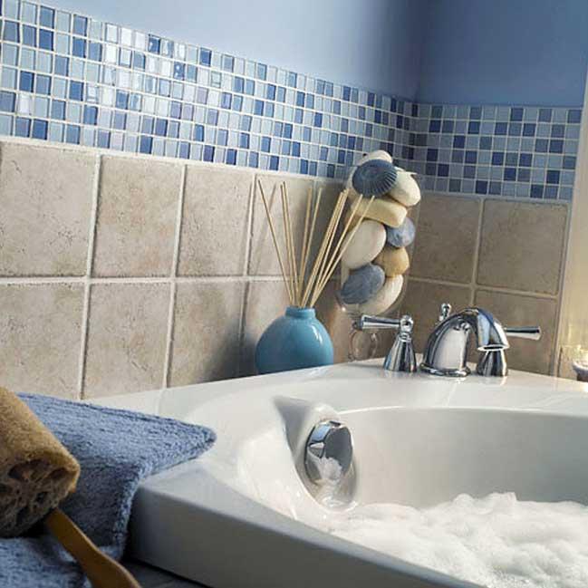 Керамическая плитка прованс в ванной