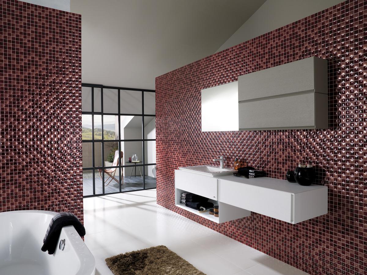 Коллекционная плитка в ванной