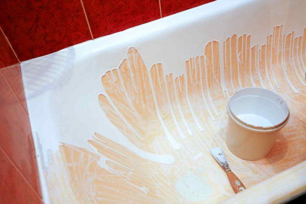 Покраска ванны жидким акрилом
