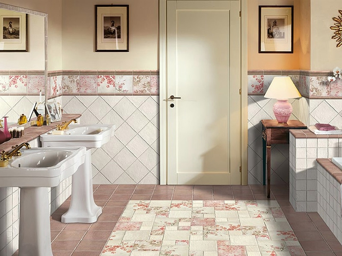 Основные варианты укладки плитки в ванной