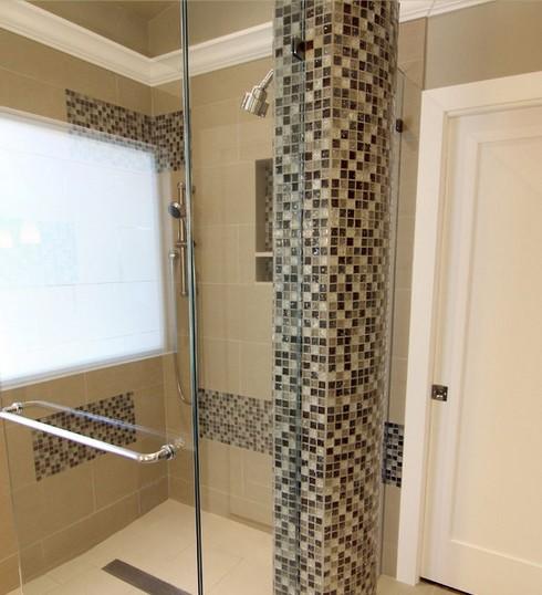 Отделка ванной комнаты плиткой и мозаикой
