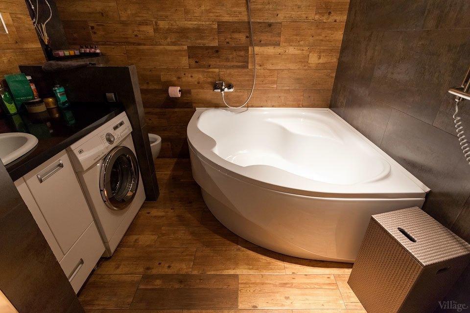 Плитка в ванной комнате - стилизация основных материалов в лофте