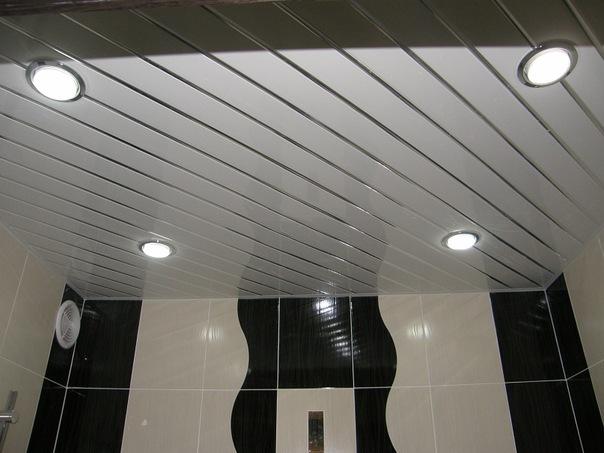 Своими руками точечное освещение в ванной 33