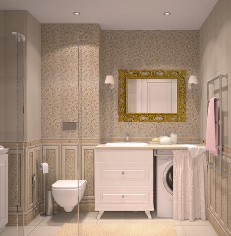 Стиль прованс в оформлении ванной