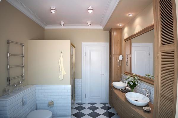 Светильники с направленным светом в ванной комнате