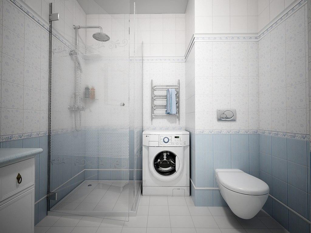 Светлые тона в оформлении ванной